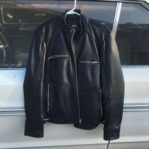 Black pleather moto jacket